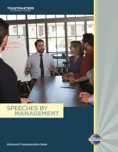 speeches by management manual
