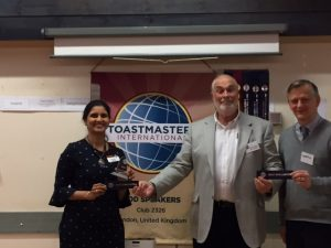 Seema and Martin win best evaluator